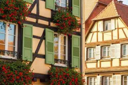 houses  house  France  Switzerland  colorful