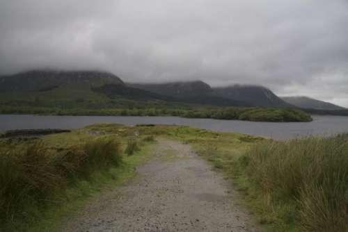 Path Clouds Fjord Western Ireland Ireland