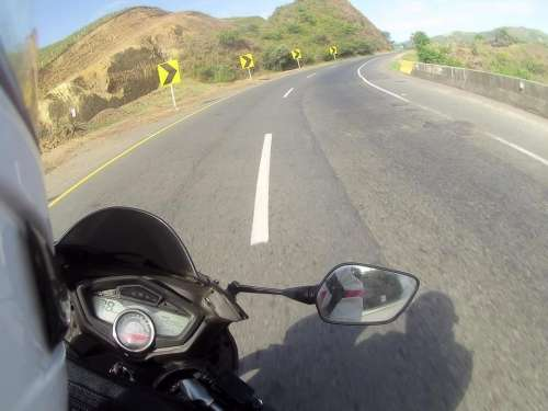 motorcycle driving road