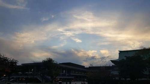 japan travel kyoto sky blue
