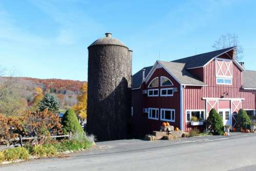 Warren Connecticut fall autumn silo
