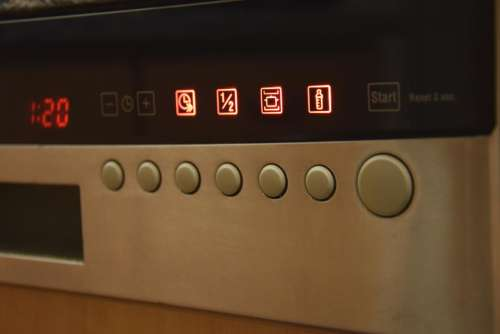 dishwasher display light up buttons clean