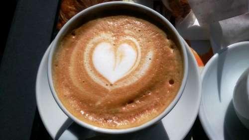 coffee latte heart love