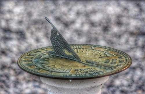 time clock sundial metal craft