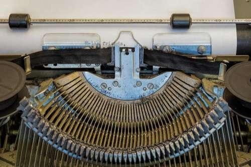 letter typewriter write vintage old