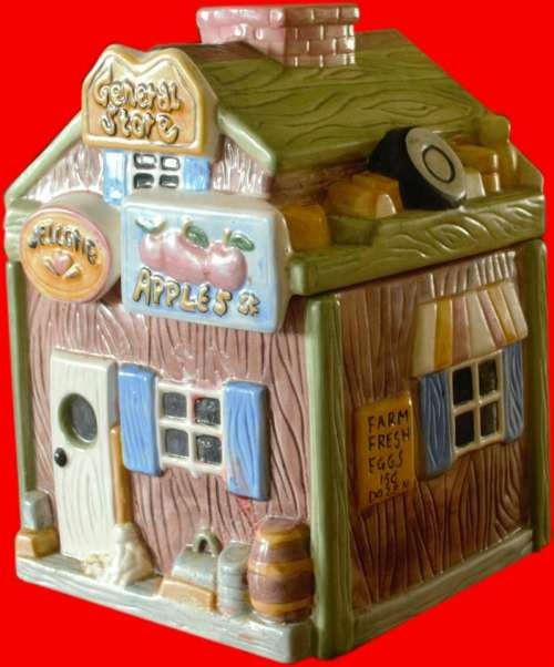 Cookie Cookie jar Ceramic Country Store old time