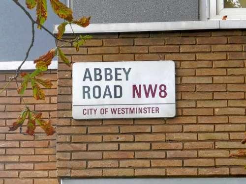 streetname Abbey Road London Beatles sixties
