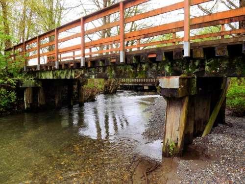 Bridge river stream trestle