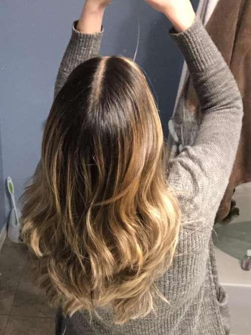 long hair blonde brown brunette