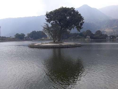 Nepal island lake water Asia
