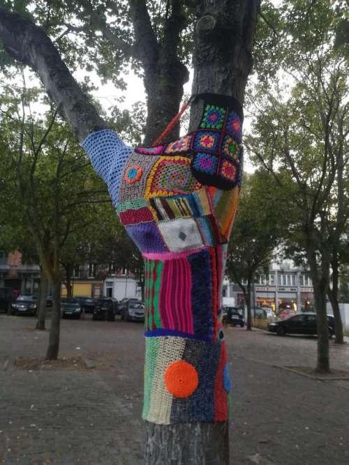Tree trees artwork knitting