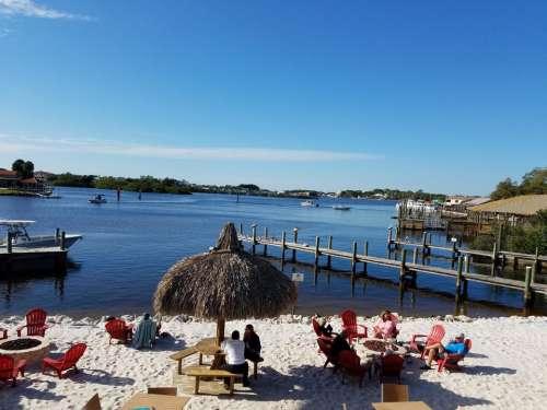 bay docks tiki hut Florida