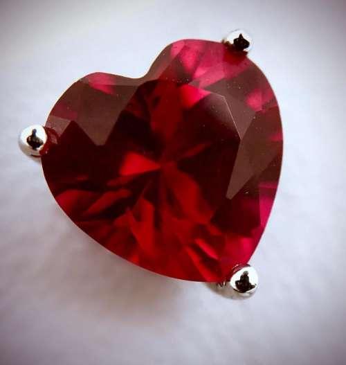Gem stone gem heart jewelry earning