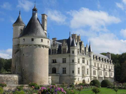 castle France French chateau palace