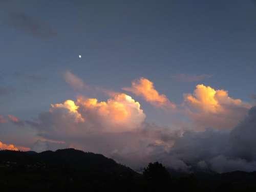 clouds sunset sunrise