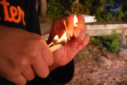 matches wood fire danger arson