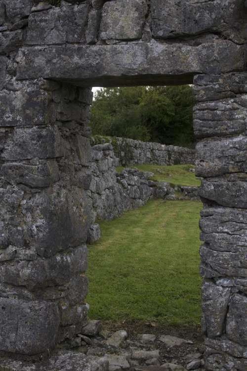 Kilmacduagh Monastery Ireland Irish Celtic County Galway
