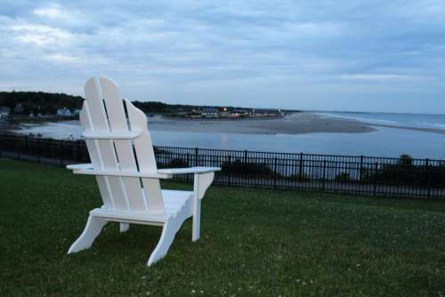 Adirondack chair chair relaxation shore beach