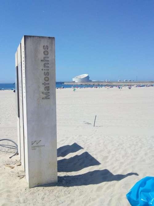 Matosinhos Portugal beach sand seashore