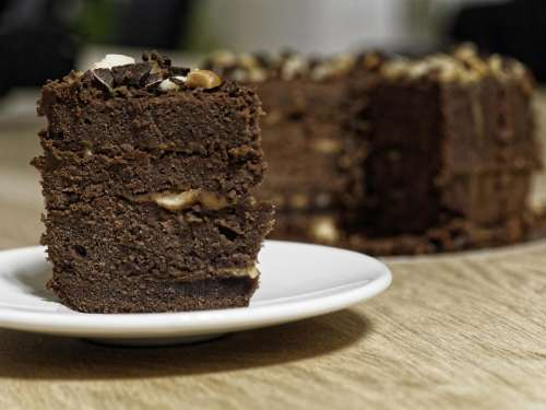 food sweet cake slice of cake chocolate cake