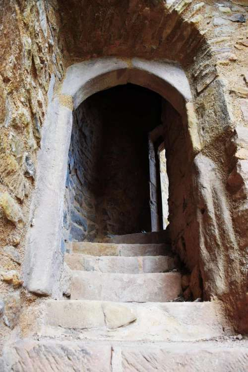 castle stairs entrance ruin door