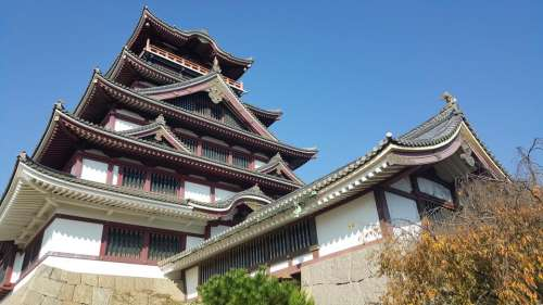 japan travel orient castle place