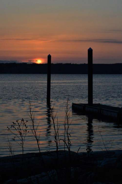 sunset ocean Camano Island
