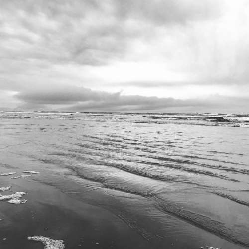 Black and White Landscape  photography Sand Dunes Beach