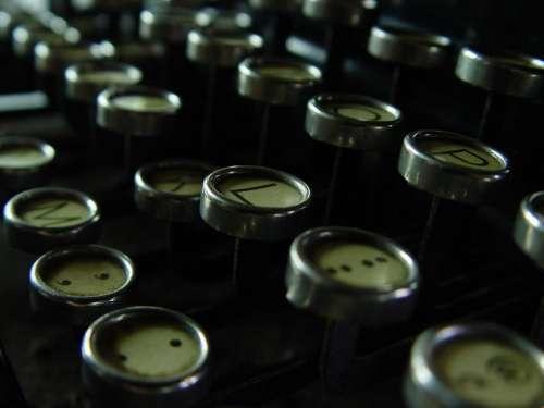 Typewriter Keys writing machine typing