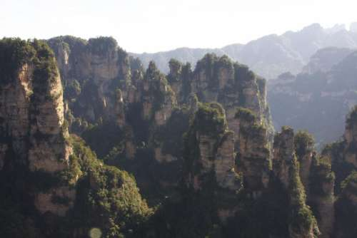 Zhangjiajie Park China Cliffs Forest