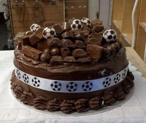 chocolate cake birthday cake football cake boys cake idea