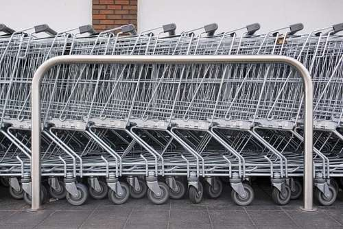 shopping trolley cart supermarket store