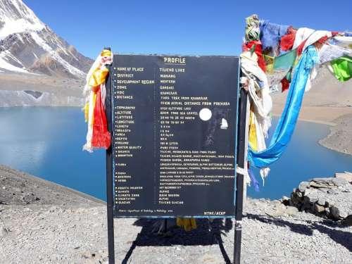 Tilicho lake Nepal Tilicho lake Himalayas