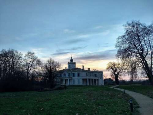Castle sunset stately home domain of course