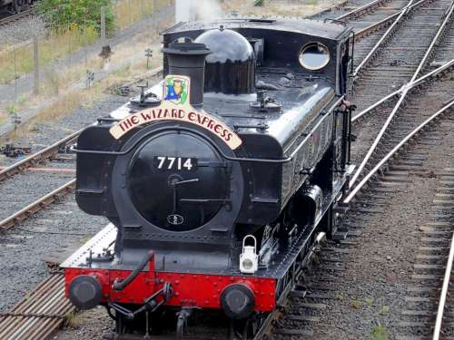 train locomotive steam wizard express