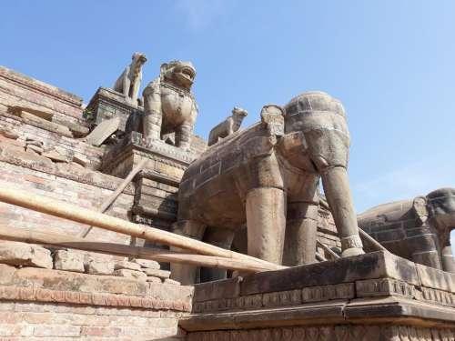 Kathmandu Nepal Asia architecture shrine