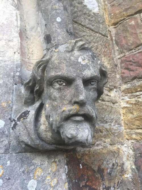 Church head biblical bricks bust