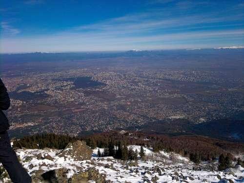 panorama high town rocks mountain