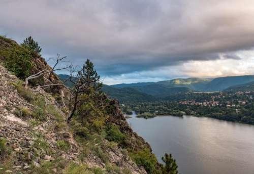 landscape sunset nature lake mountain