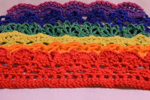 crocheting colors handwork handicraft diy