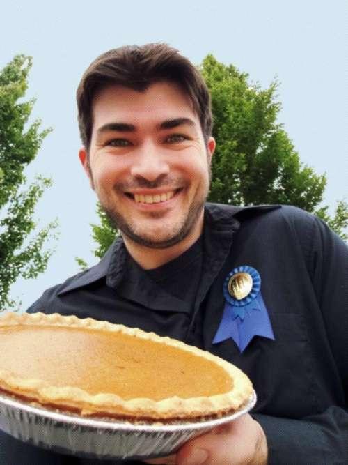 pumpkin pie pie handsome guy halftone
