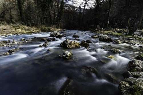 River water rapids stream