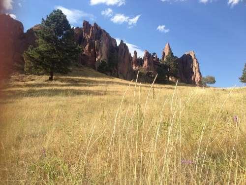 Boulder Colorado Settler's Park rock rock formations