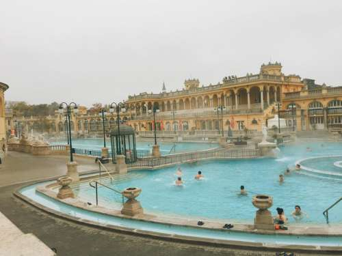 baths Hungary Budapest hot travel