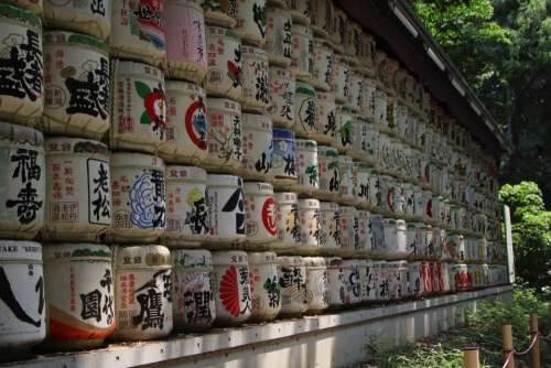 prayer drums prayer wall Buddism japan religion