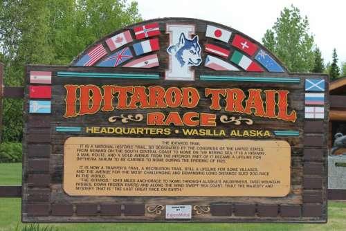 Iditarod Trail Sign information
