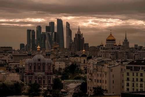 City urban cityscape buildings