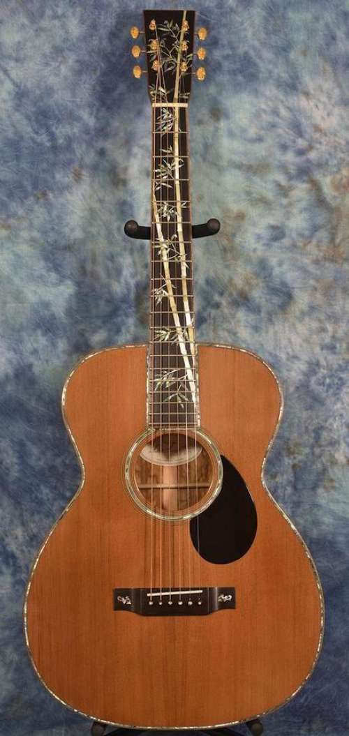 Acoustic guitar guitar music instrument bamboo inlay