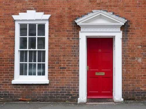red door business office old