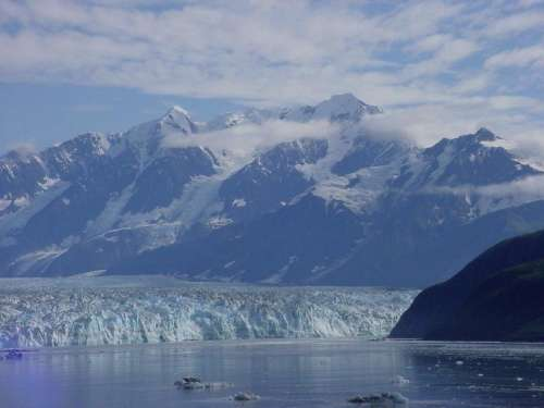 Alaska Mountain Peak Mountain Peak Snow Covered Mountain